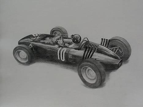 Graham Hill  BRM by Steve Jones
