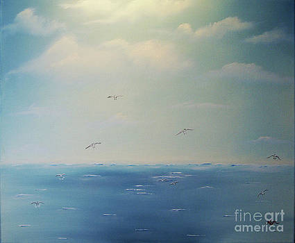Gulls in Search by Edward C Van Wicklen Sr