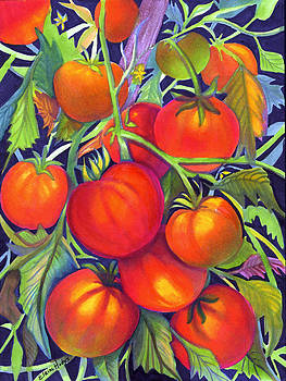 Home Grown Tomatoes by Elaine Hodges
