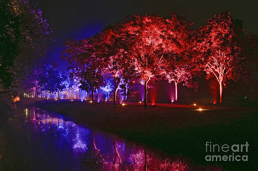 Illumina light show at Schloss Dyck Germany by David Davies