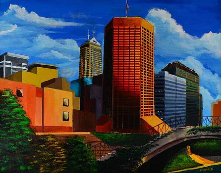 Indianapolis Cityscape by P Dwain Morris