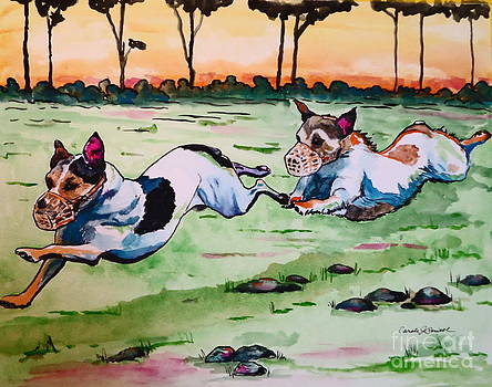 Jack Russells Racing by Carole Powell