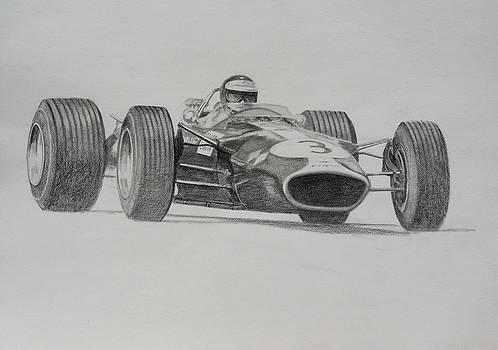 Jim Clark  Lotus 49 by Steve Jones