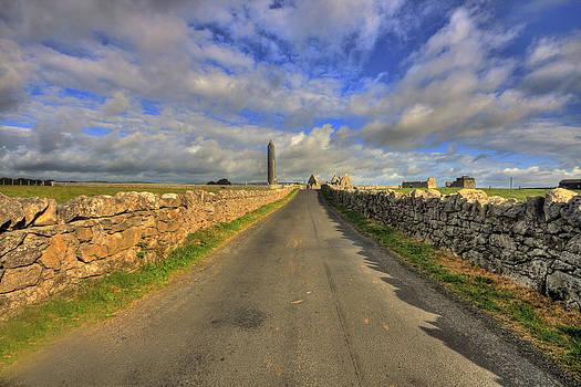 Kilmacduagh Round Tower by John Quinn