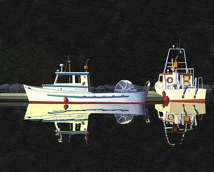 Last light  island moorage by Gary Giacomelli