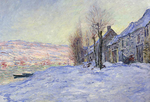Claude Monet - Lavacourt under Snow