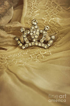 Sandra Cunningham - Little crown laying on old baby dress