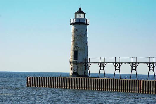 Manistee North Pierhead Lighthouse by Steph Maxson