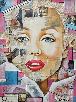 Marilyn in Pink and Blue by Joseph Sonday