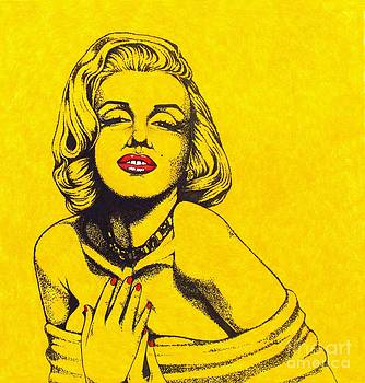 Marilyn in Yellow by Joseph Sonday