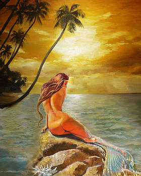Mermaid change her tail by Lila Prokopenko
