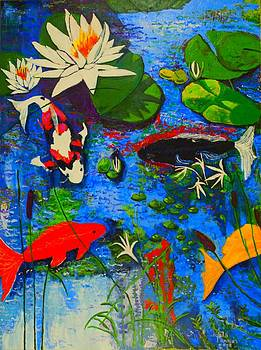 Miami Koi Collage by Angela Annas