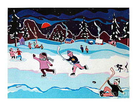 On Frozen Pond by Joyce Gebauer