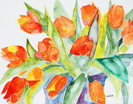 Orange Holland  Tulips by Wade Binford