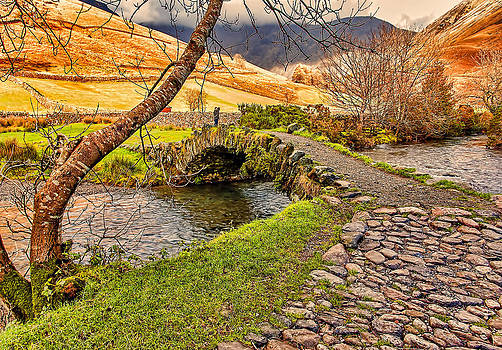 Packhorse Bridge Wasdale Head by Trevor Kersley