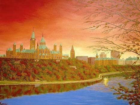 Parliament Hill Sunset by Darlene Agner