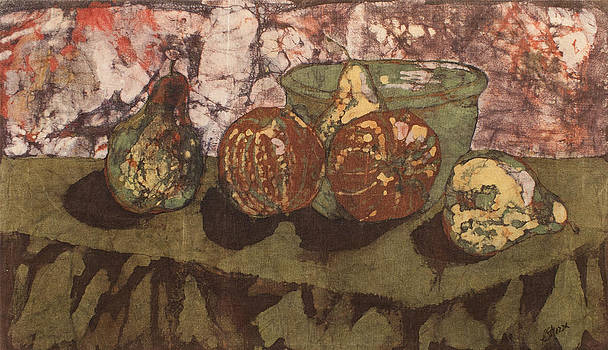 Pears and Apples Batik by John and Lisa Strazza