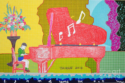 Red Piano by Taikan Nishimoto