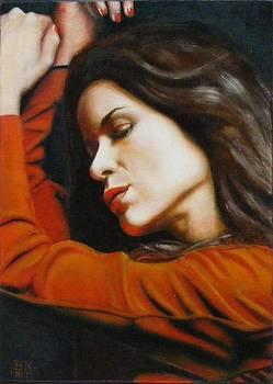 Restless Sleep In Orange by Alan Berkman