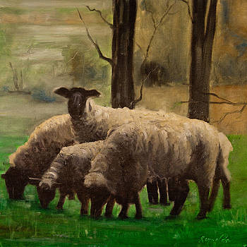 Sheep Family by John Reynolds