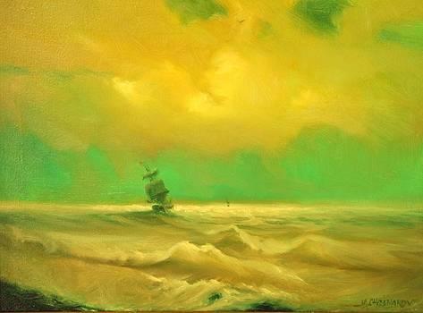 Ship at Shore by Michael Chesnakov
