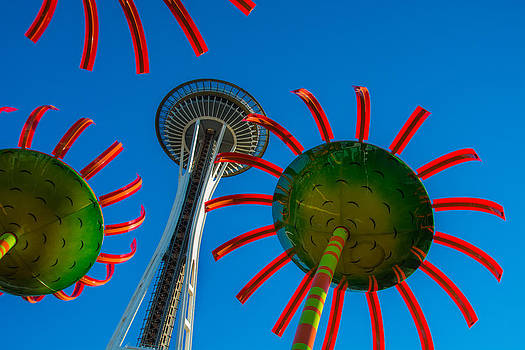 Space Needle Fantasy by Glenn McGloughlin