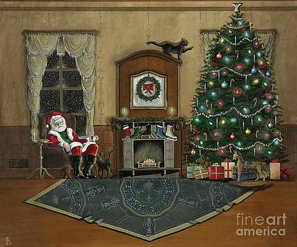 St. Nicholas Sitting in a Chair on Christmas Eve by John Lyes