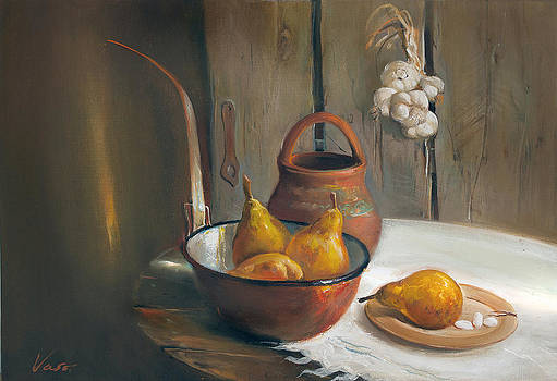 Still life with pears by Vasil Vasilev