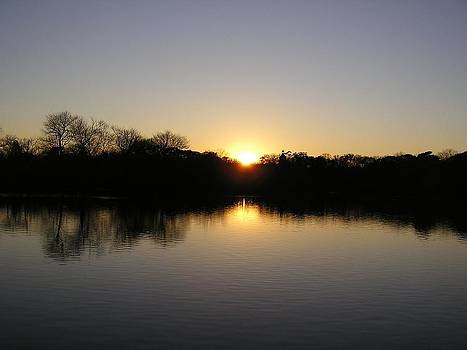 Sunset at Belmont Lake by Neal David Reilly