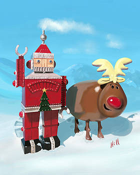 The Adventures of Oh Deer and Robo Santa by Kevin Hill