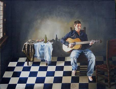 The Guitar Player by Alan Berkman