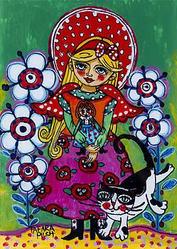 The poppy angel by Iwona Fafara-Pilch