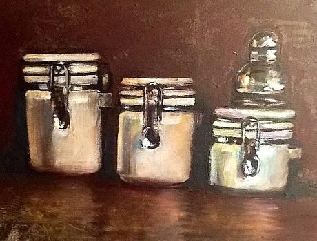 Three White Jars by Genevieve Elizabeth