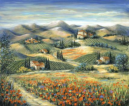 Marilyn Dunlap - Tuscan Villa and Poppies