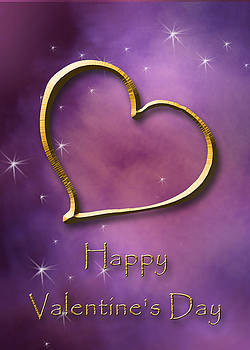 Valentine's Day Gold Heart by Jeanette K