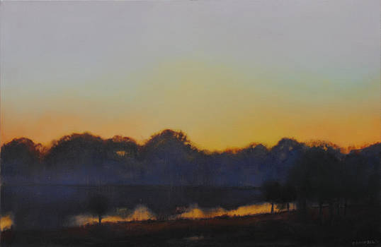 White Rock Lake Dusk SOLD by Cap Pannell