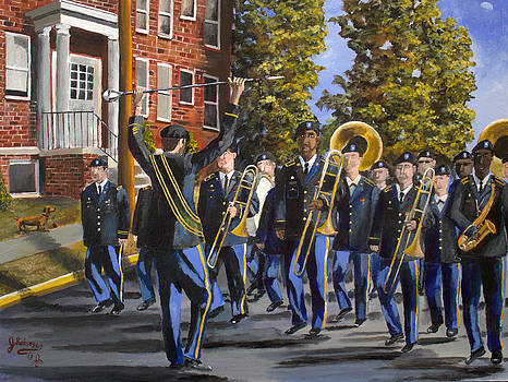 208th Army Band on the Move by Julia Robinson