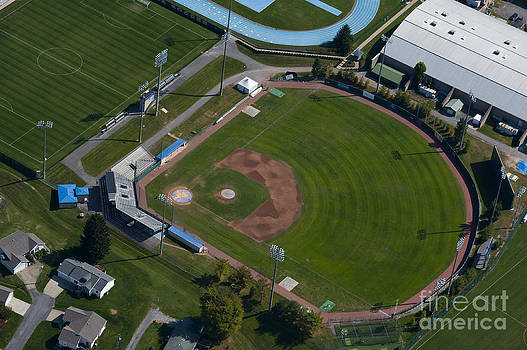 Dan Friend - aerials of WVU campus Hawley Field