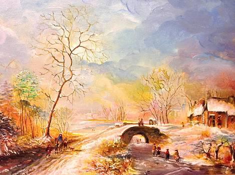 Winter landscape by Egidio Graziani