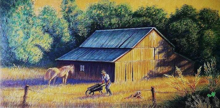 Barn Scene by Raffi  Jacobian