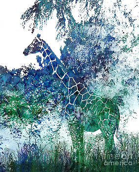 Camouflaged Giraffe by Debra Pruskowski