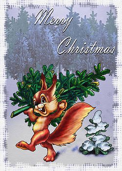 Christmas Greeting Card by Roxana Paul