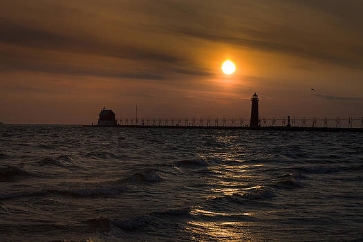 Jack R Perry - Grand Haven South Pier Lighthouse MI