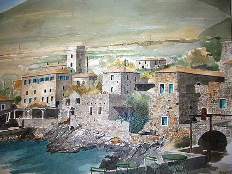 Greek village by Samir Sokhn