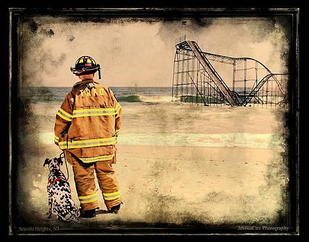 Hurricane Sandy Fireman by Jessica Cirz
