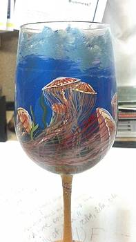 Jellyfish On Glass by Dan Olszewski