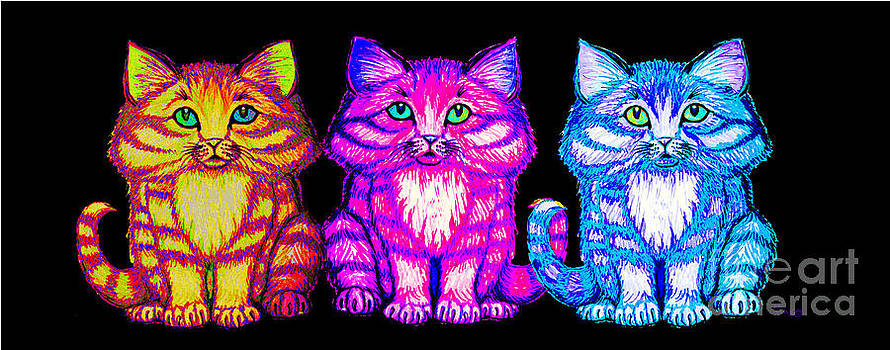 Nick Gustafson - 3 little colorful kittens