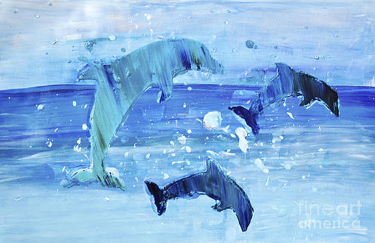 3 More Dolphins Dancing by Shelley Myers