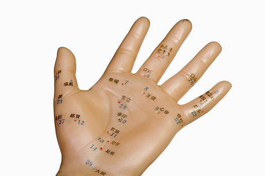 Acupuncture Points by Science Stock Photography