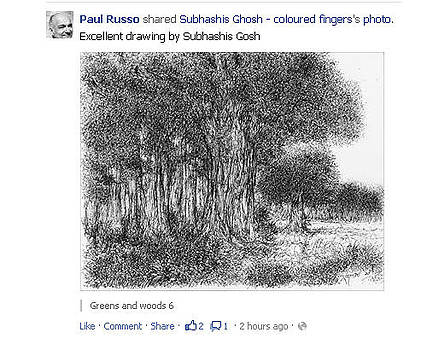 artist Paul Russo accredited Greens and woods series by Subhashis Ghosh
